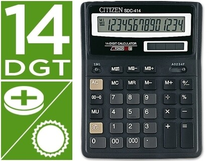 CALCULADORA DE SECRETARIA 14 DIGITOS VISOR GRANDE - CITIZEN