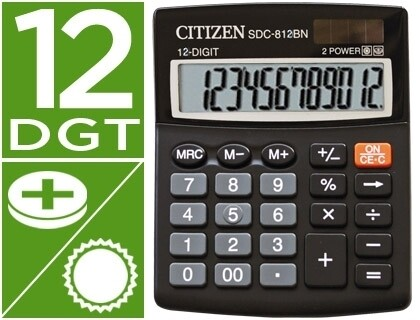 CALCULADORA SECRETARIA ECO EFICIENTE 12 DIGITOS - CITIZEN