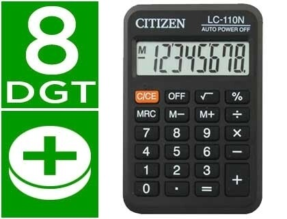 CALCULADORA DE BOLSO 8 DIGITOS - CITIZEN