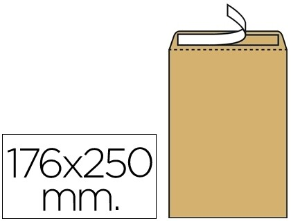 ENVELOPE 176 X 250 MMS (B5) AUTODEX KRAFT PACK 500 UN
