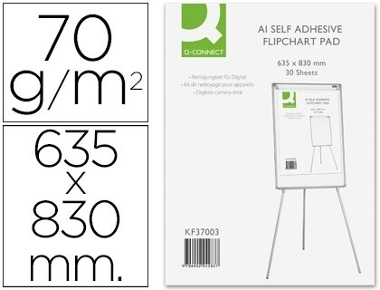 BLOCO PAPEL CONFERENCIA ADESIVO 63X83 CMS PACK 30 FLS