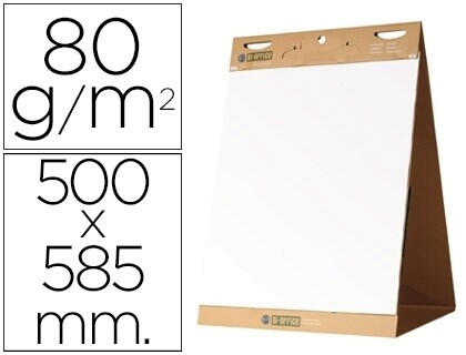 BLOCO PAPEL CONFERENCIA ADESIVO 50X58,5 CMS PACK 20 FLS - BI-OFFICE