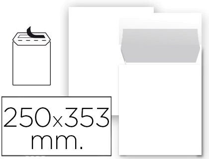 ENVELOPE 250 X 353 MMS (B4) AUTODEX BRANCO PACK 25 UN