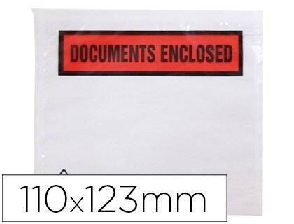 ENVELOPE PACKING LIST 110 X 123 MMS PACK 100 UN